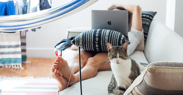 Relax with cat